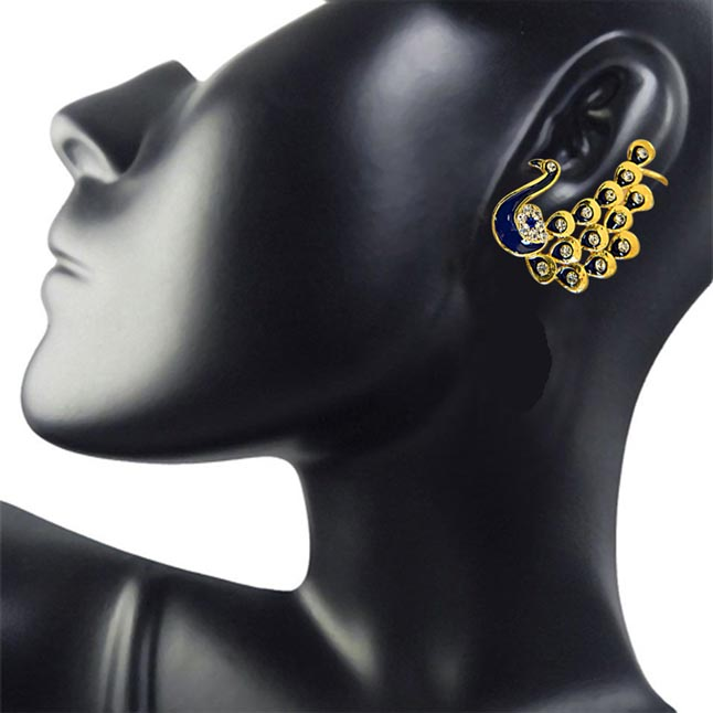 Peacock Paradise Ear Cuffs