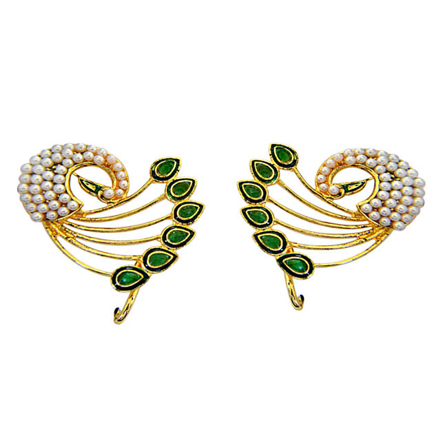 Peacock Lovers Ear Cuffs