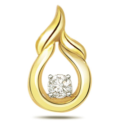 Pear Drop Diamond Pendants P387 -Solitaire