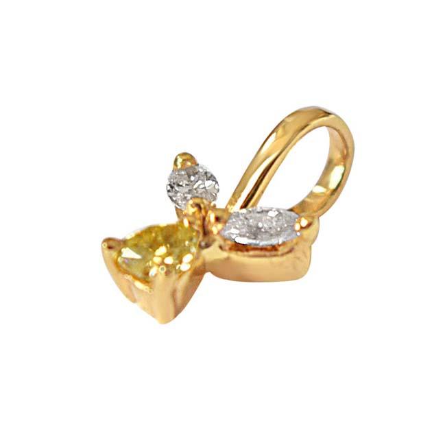 Pear & Marquise Diamond Pendants in 18kt Gold -Designer Pendants