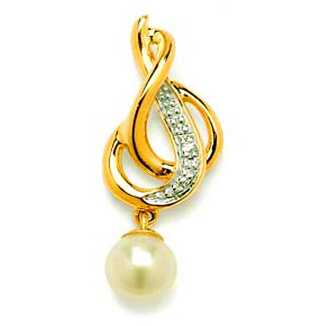 Pearl Affair P478 -Diamond Pendants Pendants -Designer Pendants