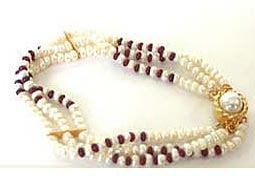 Pearl Ruby Creation -Pre.Stone Bracelet