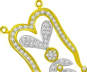 Peppy Petals 0.79ct Two Tone Diamond Pendants