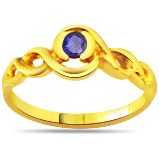 Perfect Star Sapphire Round Sapphire Gold rings SDR1036
