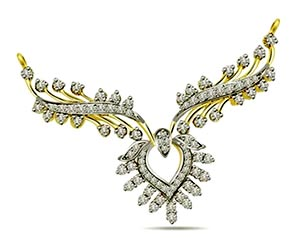 Petal's of Pride 1.00 cts Designer Diamond Necklace Pendants