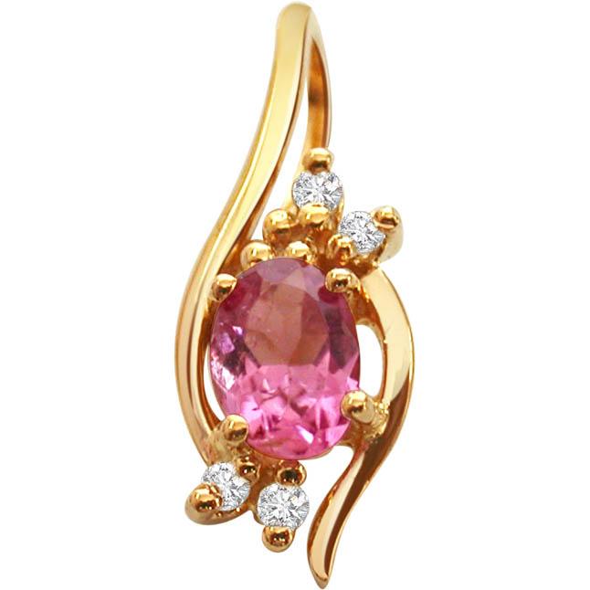 Pink Petals -Dia+Gemstone