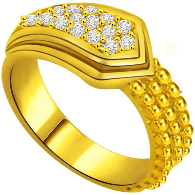 Pretty Diamond Gold rings SDR893 -Yellow Gold Eternity rings