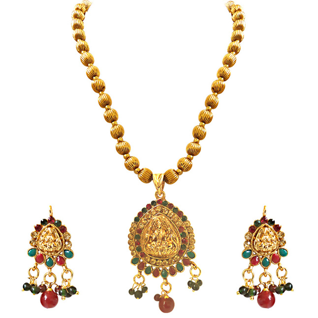 Indian Goddess -Necklace & Earrings Set