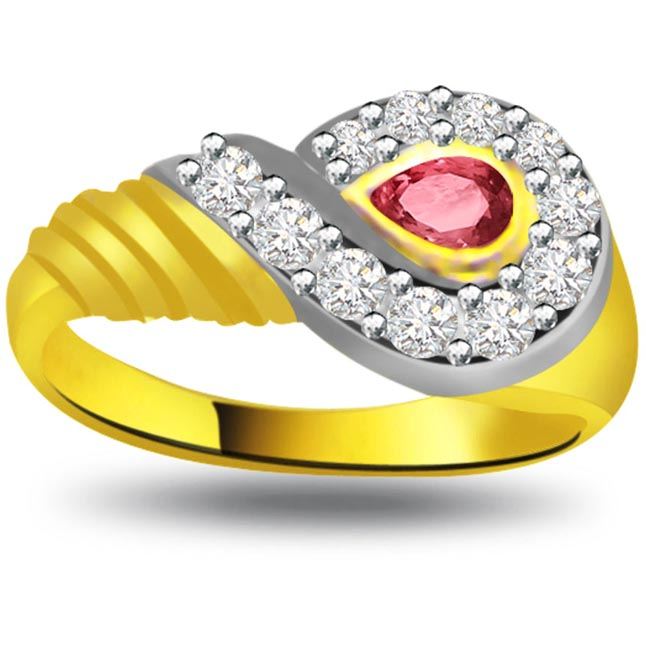 Radiant Wealth Elegant Diamond Gold rings SDR1034