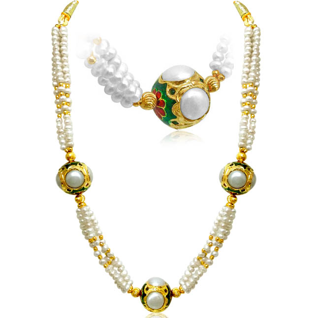 Rajasthani Beads Necklace -2 To 3 Line Necklace