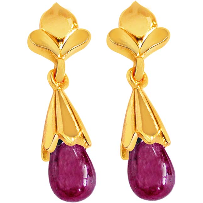 My Love Is True – Ruby Earrings -Pres.Stone Earrings
