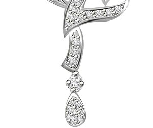 Reaching The Sky White Gold Diamond Pendants Necklaces