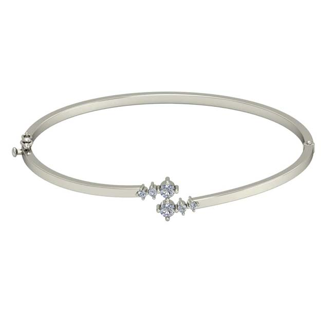 Real Diamond Solid Fine 925 Sterling Silver Bracelet For Your Love -Diamond Bracelets