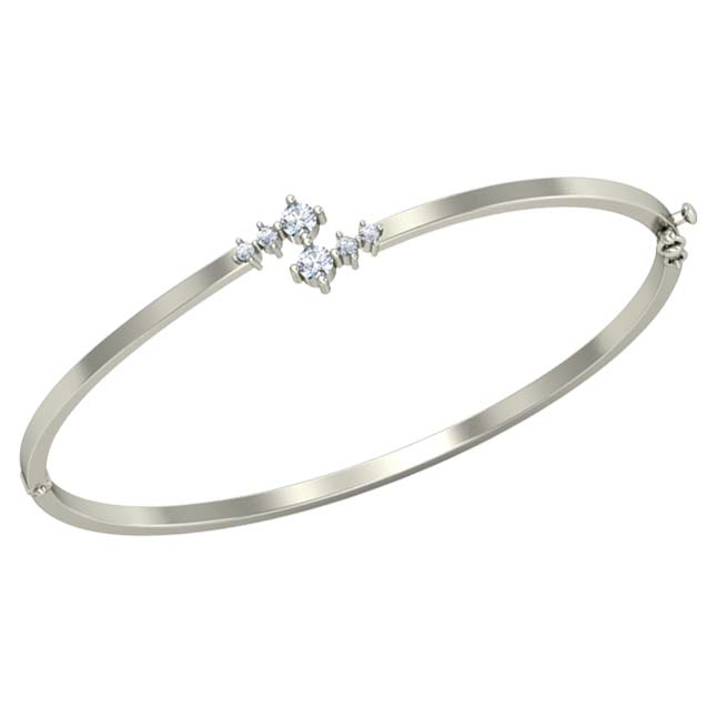 Real Diamond Solid Fine  925 Sterling Silver Bracelet For Your Love
