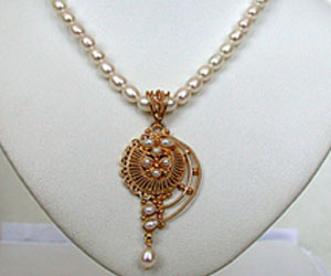 Real Freshwater Pearl Necklace -Single Line