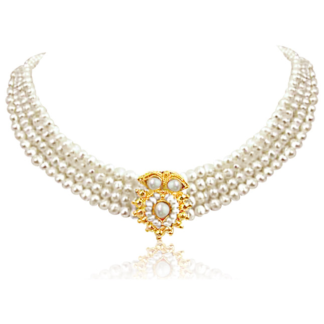Real Pearl Splendour -Pendants Necklace