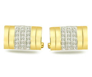 Reason For Living -0.31ct VS Clarity Diamond Gold Cufflinks -Cufflinks
