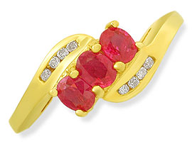 Red -C y -diamond rings| Surat Diamond Jewelry