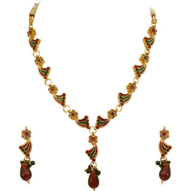 Buy Kundan Choker Necklace Priya Nacc10438c: Jewellery Sets-Buy Artificial Fashion Jewelry At