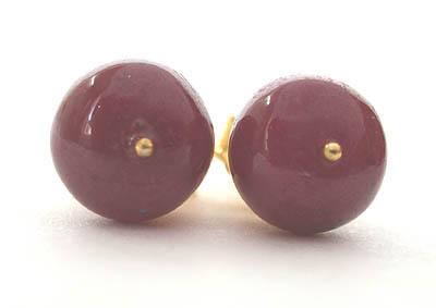 Refined Ruby -SE85 -Pres.Stone Earrings