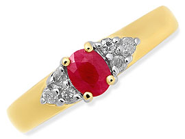 Regale In Red -diamond rings| Surat Diamond Jewelry