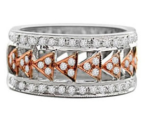 rings It In Style -0.82 CT H/SI3 Diamond Engagement rings