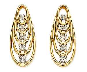 Rising Star 0.20cts Diamond Earrings -Designer Earrings