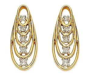 Rising Star 0.20cts Diamond Earrings -Designer Earrings