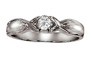 Rock n Roll -White Gold Big Solitaire Rings