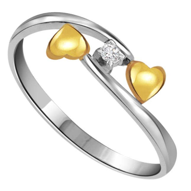 Rocking Duo Classic & Elegant Design Diamond Heart rings