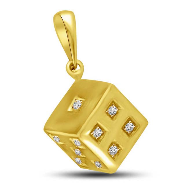 Roll your way into his Heart with this Dice shaped Pendant