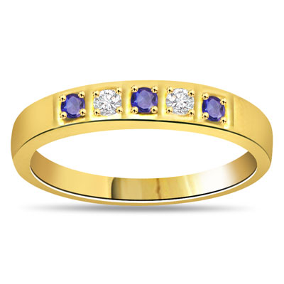 Romantic Setting Diamond & Sapphire rings in 18kt Gold