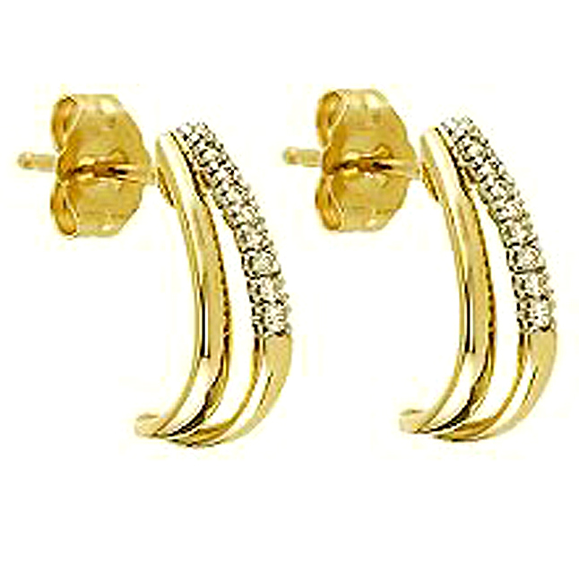 Romantic Twist 0.18ct Diamond Earrings -Balis & Hoops