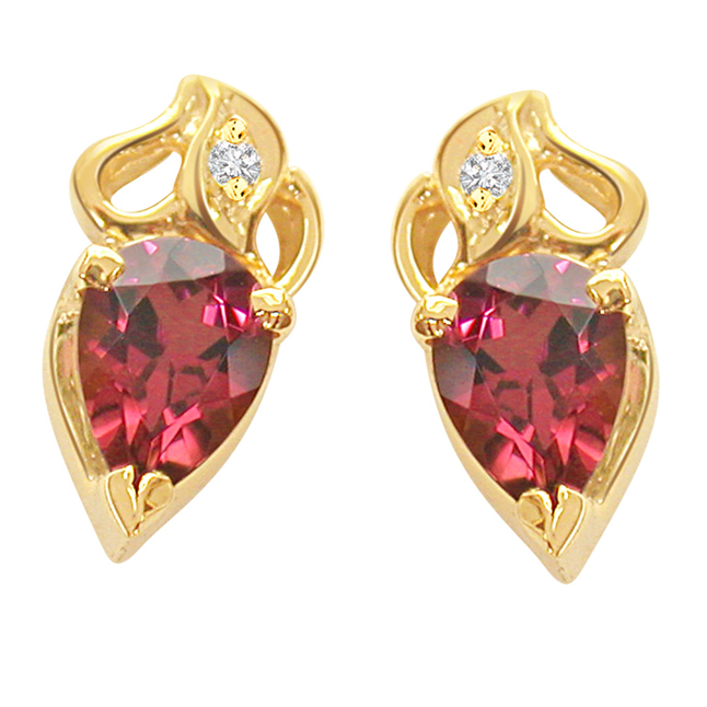 Rosy Love Diamond Rouge Earrings -Designer Earrings