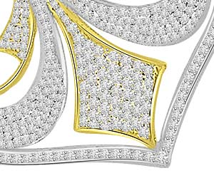Royal Splendor 1.27ct Diamond Pendants For Her -Designer Pendants