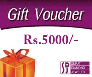 Wedding Gift For 5000 Rs : Rs.5000 / -Gift Vouchers. -Gift Certificates