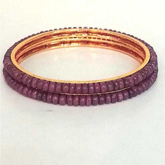 Ruby Beads Bangles -BGP14 -Bangles -Bracelets