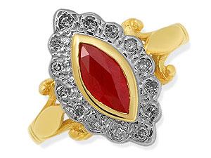 Ruby Breaking My Heart -diamond rings| Surat Diamond Jewelry