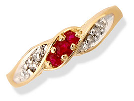 Ruby Pomegranate Passion -diamond rings| Surat Diamond Jewelry