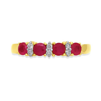 Ruby Romantic Setting -diamond rings| Surat Diamond Jewelry
