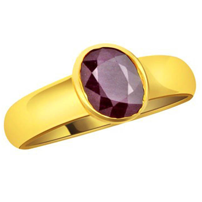 Ruby Stone in gold rings -Navratna+Gemstone