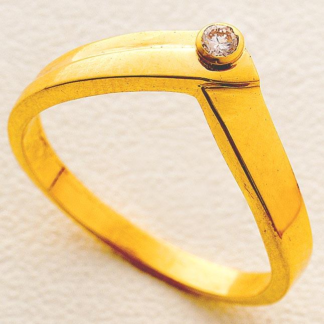 Magical Love Gold n Diamond rings -18k Engagement rings