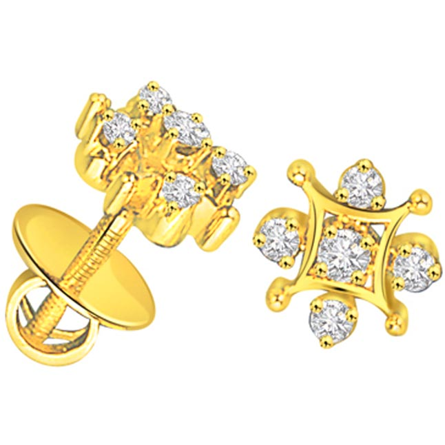 Starry Eyed Shimmerings Diamond Earrings -Designer Earrings