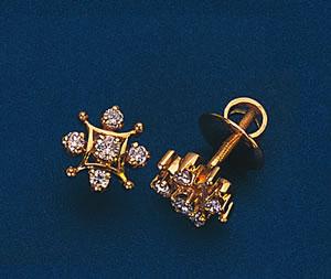Starry Eyed Shimmerings Diamond Earrings -Designer Earrings