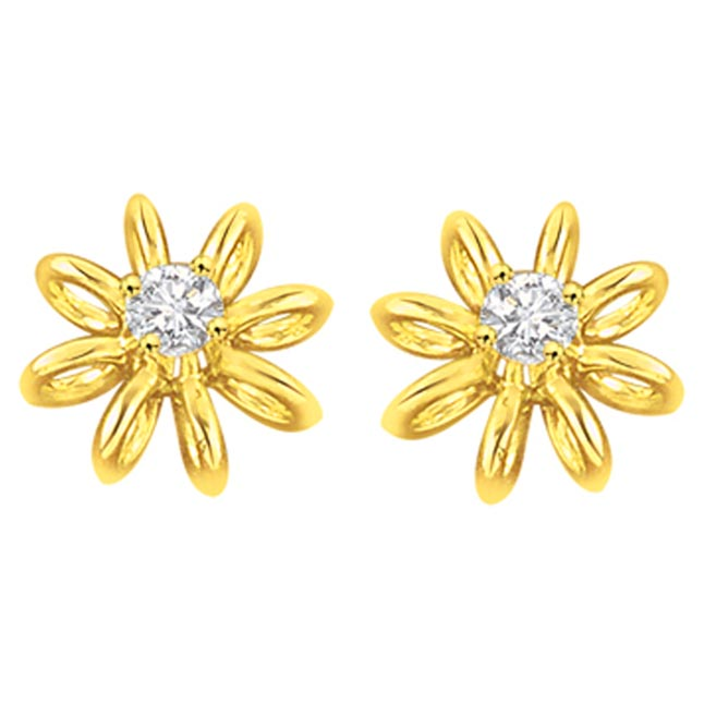 Lucid n Luminous Diamond Earrings -Solitaire Earrings