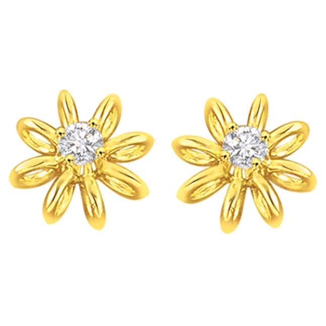 Lucid n Luminous Diamond Earrings -Solitaire Earrings