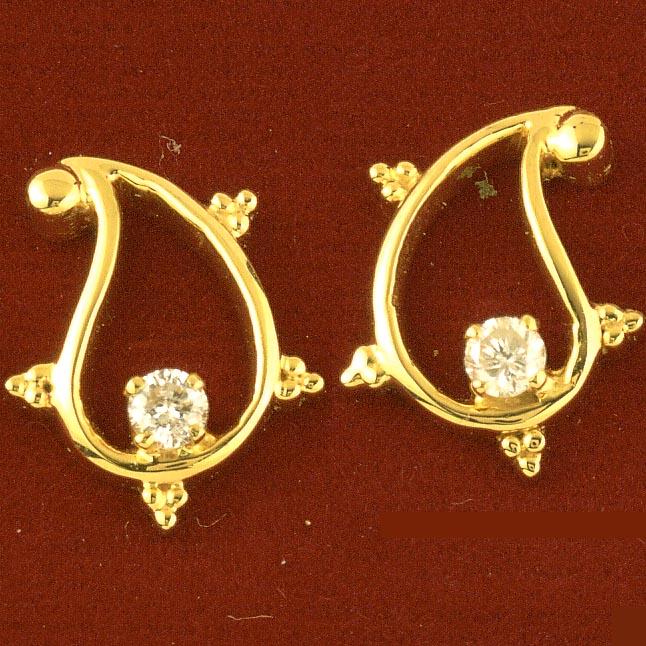 Diamond Embellishment Earrings -Solitaire Earrings