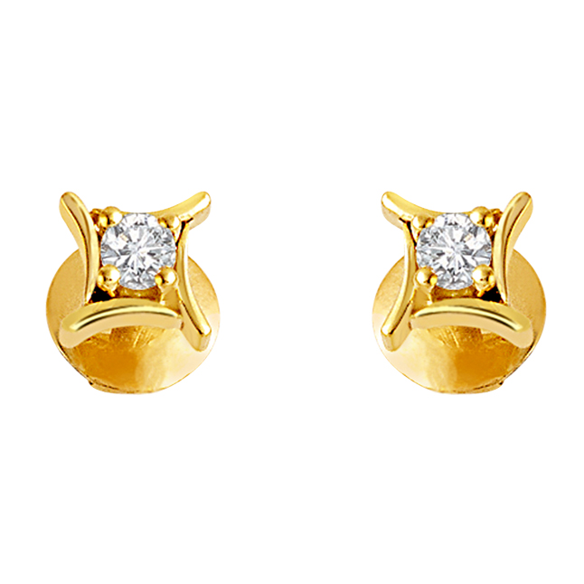 Star Love 0.33 cts Diamond Earrings Studs -Solitaire Earrings