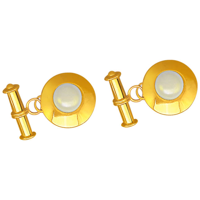 Charming Cufflinks -Gold Cufflinks