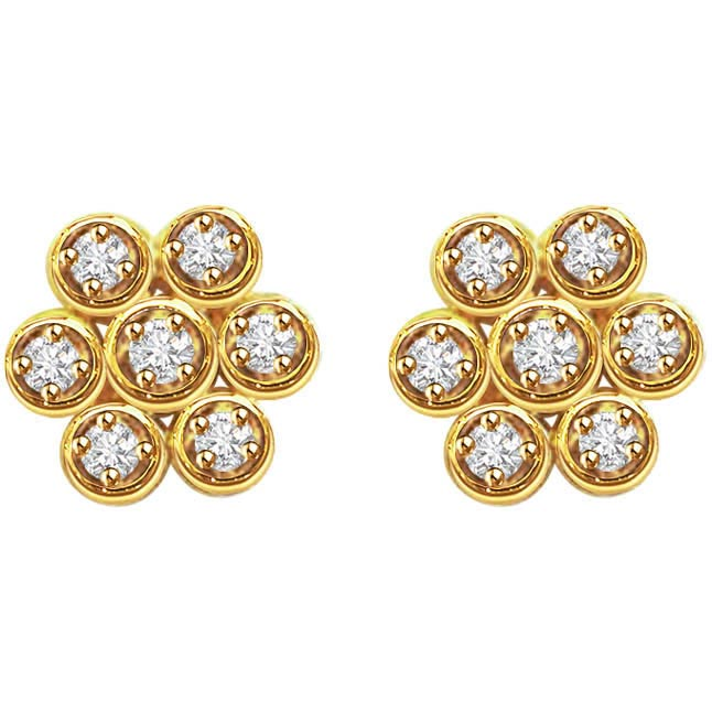 Ravishing Round Shaped Earrings -Kudajodi